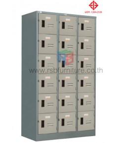 ตู้ล็อกเกอร์ 18 ประตู รุ่น LK - 018 มีกุญแจและสายยู (มี มอก) ยี่ห้อ TAIYO รหัส 2817