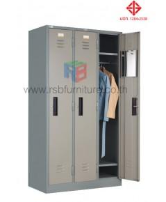 ตู้ล็อกเกอร์ เสื้อผ้า 3 ประตู รุ่น LK-003 มี(มอก.1284-2538) รหัส 2813 (TAIYO)