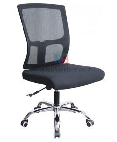 เก้าอี้สำนักงาน ไม่มีที่เท้าแขน พนักพิงตาข่ายเหนียวพิเศษ รุ่นขายดี รหัส 2812