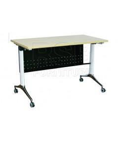 โต๊ะพับล้อเลื่อน แผ่นบังตาเหล็ก รหัส 2861