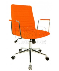 เก้าอี้สำนักงาน พนักพิงหนัง รหัส 2880