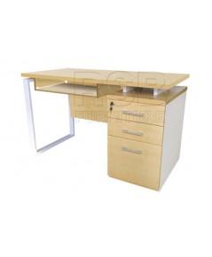 โต๊ะคอมพิวเตอร์ ขาเหล็กกล่อง ลิ้นชักเต็ม W120/150/180 CM 3 ลิ้นชัก รหัส 2889