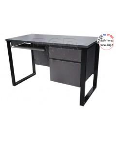 โต๊ะคอมพิวเตอร์ ขาเหล็กกล่องตัว C ทำที่จับหลบใน ขนาด W120/150/180 CM รหัส 2893