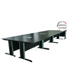 โต๊ะประชุม ขาเหล็กปั๊มเงา ตัวต่อ จำนวน 12-16 ที่นั่ง ขนาด W 555XD180 CM รหัส 2896
