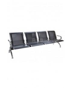 เก้าอี้แถว พนักพิงที่นั่งเหล็ก งานดีไซน์ รุ่นขายดี ราคาโปรโมชั่น  4 ที่นั่ง และ 5 ที่นั่ง เหล็กสีดำ