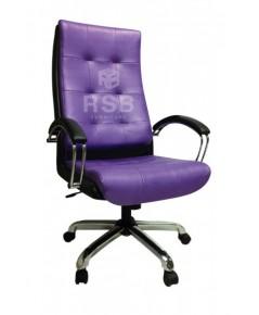 เก้าอี้บริหาร พนักพิง ระดับศรีษะ แขนเหล็กหุ้มหนัง รหัส 3042
