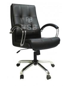 เก้าอี้ทำงาน พนักพิงพิงระดับกลาง เบาะหนา รับน้ำหนัก 130 KG รหัส 3043