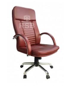 เก้าอี้ผู้บริหาร พนักพิงสูง แขนเหล็กหุ้มหนัง รหัส 3056