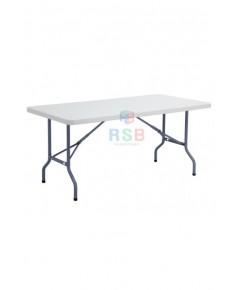 โต๊ะพับเอนกประสงค์ 6 ฟุต TOP HDPE รับน้ำหนัก 250 KG ขนาด 182 x 76 cm รหัส 3096