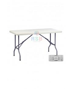 โต๊ะพับเอนกประสงค์ 5 ฟุต TOP HDPE รับน้ำหนัก 250 KG ขนาด 150 x 75 cm รหัส 3097