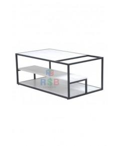 โต๊ะกลาง ขาเหล็กพ่นสีดำ ขนาด 105 x 60 cm. รหัส 3110