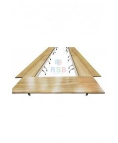 โต๊ะประชุมตัวต่อ 20-22 ที่นั่ง โครงเหล็กหนา ขนาดรวม W.960 x D.180 cm. รหัส 3120
