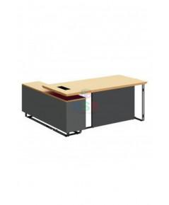 โต๊ะทำงานผู้บริหาร งานดีไซน์ ขาเหล็ก ขนาด 180 x 160 cm รหัส 2973