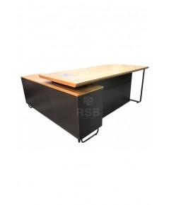 โต๊ะทำงานผู้บริหาร งานดีไซน์ ขาเหล็ก ขนาด 160 x 160 cm รหัส 2975