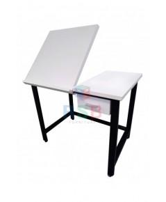 โต๊ะเขียนแบบ ขาเหล็กกล่อง ยก TOP ขึ้นปรับระดับได้ รับสั่งผลิต ขนาด 90 x 40 x สูง 75 cm รหัส 3174