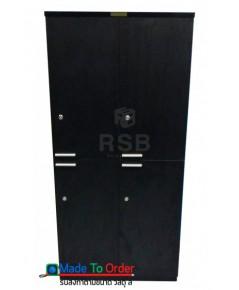 ตู้เอกสารสูง 8 ช่อง 4 บานเปิดบน - ล่าง ขนาด 80 x 40 สูง 200 cm รหัส 3343