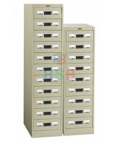 ตู้เก็บบัตร ตู้เหล็ก LUCKY รุ่น D-211 / D-209  แบบลิ้นชัก มี จำนวน 9 และ 11 ลิ้นชัก รหัส 3360