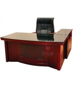 โต๊ะผู้บริหาร พร้อมตู้ไซด์บอร์ดข้าง วัสดุไม้ ขนาด W 160 cm x D 80 m  x H 77 cm รหัส 3363