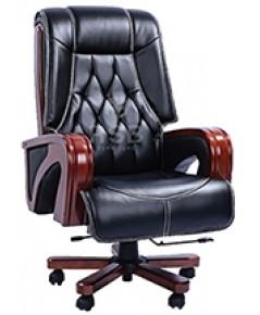 เก้าอี้ผู้บริหาร หนังแท้ โครงเหล็กหนาทั้งตัว ปรับเอนนอนได้ รับน้ำหนัก 150 KG รหัส 3366