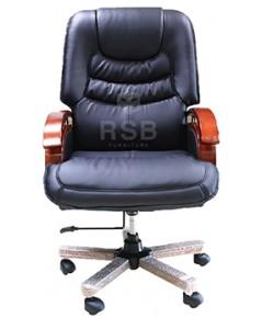 เก้าอี้ผู้บริหาร ขาและแขน วัสดุไม้ ปรับเอนนอนได้  รหัส 3370