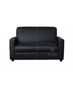 โซฟา 2 ที่นั่ง minimal design หุ้มด้วยหนัง เย็บลาย รหัส 3680