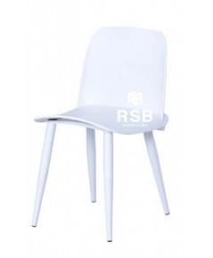 เก้าอี้ DESIGN CHAIR สีขาว ที่นั่งดัดขึ้นรูป รหัส 3665