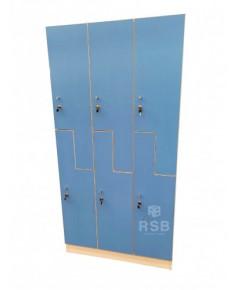ตู้ล็อกเกอร์ไม้ ห้องฟิตเนส 6 บานเปิด ขนาด 90 x 40 x 180 cm รหัส 3655