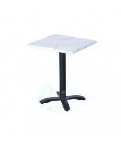 โต๊ะ TOP ไม้ลายหินอ่อน ขาเหล็ก DESIGN พ่นสีดำ ขนาด 60 x 60 cm รหัส 3690