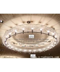 โครงโคมไฟสแตนเลส  LD-F127  (Stainless Steel Chandelier)