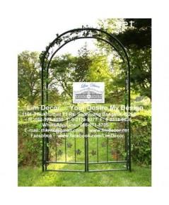 ซุ้มโค้งเหล็กดัด ตกแต่งสวน LD-F018  Arch Metal Steel Fence for Garden Decoration