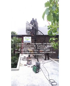 LD-B919 บันไดวนเหล็ก ณ พัทยาใต้ Metal Spiral Staircase/ Railing @ South Pattaya