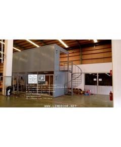 LD–B1131 บันไดวนเหล็กพร้อม SMB Office นิคมฯ บางปูบางนา Metal Spiral Staircase for Event Hall Office