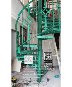 LD–B1265 บันไดวนอัลลอย กรุงเทพฯ Alloy Spiral Staircase BANGKOK