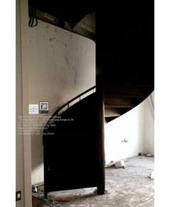 LD–B1287 บันไดวนทึบพื้นเหล็ก ปิ่นเกล้า กรุงเทพฯ Metal Steel Winder Railing I Staircase + Metal Floor