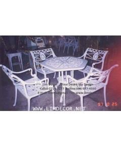 LD-E313 ชุดสนามอัลลอย Alloy Steel Garden Furniture