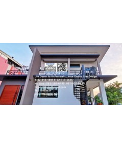 LB-2548 ราวบันไดเหล็ก Metal Steel Railing @Petchburi House Huykwang Bangkok