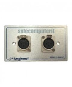 Amphenol Outlet Plate  AMW-XLR-02P