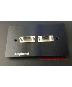 Amphenol Outlet Plate VGA 2 Port