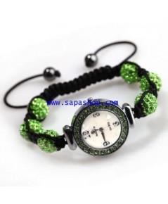 จำหน่าย นาฬิกาข้อมือ แบบสร้อยข้อมือ Crystal Ball สีเขียว สำหรับ Women ราคาประหยัด (พรีออเดอร์))