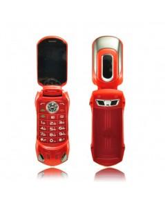 จำหน่าย โทรศัพท์มือถือ 2 ซิม สีแดง รูปแบบรถสปอร์ต Ferrari  สุดเท่ห์แบบพับได้ ราคาประหยัด(พรีออเดอร์)