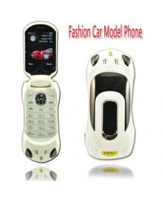 จำหน่าย โทรศัพท์มือถือ 2 ซิม สีขาว รูปแบบรถสปอร์ต Ferrari  สุดเท่ห์แบบพับได้ ราคาประหยัด(พรีออเดอร์)