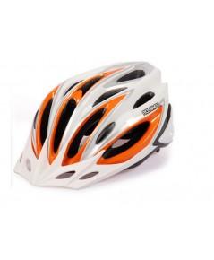 ขายหมวกปั่นจักรยาน สีขาว ส้ม size 56-62 cm หมวกปั่นจักรยานราคาถูก(พร้อมส่ง)