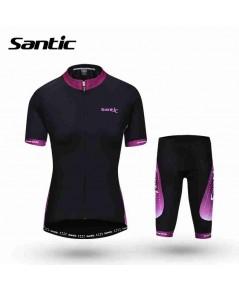 จำหน่ายSantic ผู้หญิงขี่จักรยานเสื้อสไตล์ฤดูร้อน 2016 ขี่จักรยานเสื้อผ้าชุดชุดโปรทัวร์เดอฝรั่งเศสแข่