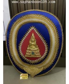 ตาลปัตรลายนูน ( มาใหม่ ล่าสุด )  ลายพระ เป็นงานทองเหลืองแท้ชุบ