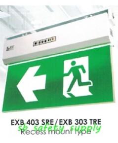 กล่องไฟทางหนีไฟ กล่องไฟทางออก สลิมไลน์ EXB403SCE,EXB403TCE Slimline Exit Sign Lighting Max Bright