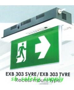 กล่องไฟทางหนีไฟ กล่องไฟทางออก สลิมไลน์ EXB303SVRE,EXB303TVRE V-Line Exit Sign Lighting Max Bright