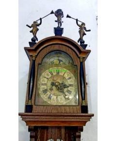 นาฬิกาแขวนผนังโบราณ ฮอลแลนด์ หน้าพระจันทร์ยิ้ม