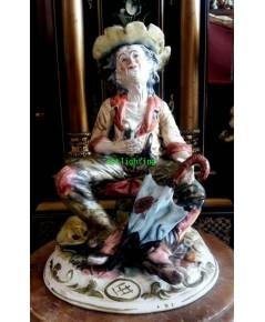 ตุ๊กตา กระเบื้องPorcelainช่างตัดผม  งานยุโรปCapodimonte อิตาลี