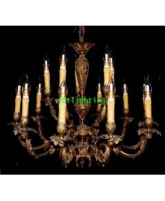 โคมไฟโบราณ เนื้อทองสำริดศิลปะหลุยส์ 15    งานอิตาลี