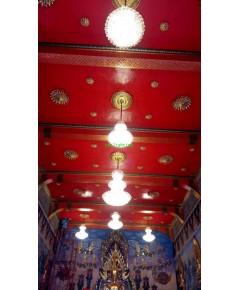 งานติดตั้งโคมไฟ ในพระอุโบสถ วัดบาพลีใหญ่กลาง    3 ธันวาคม  ปี 2561